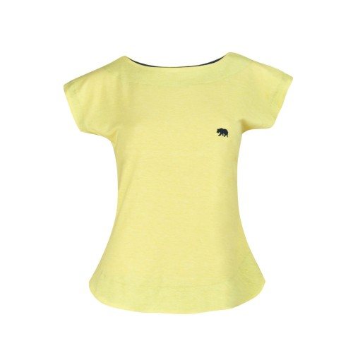 Boat Neck Embroidered Batwin Half Sleeve Short Length Top